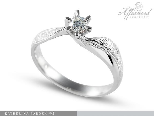 Katerina barokk no2 – eljegyzési gyűrű
