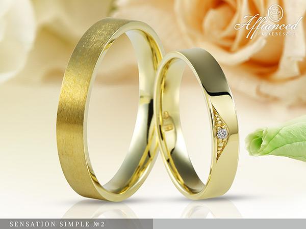 Sensation Simple no2 - karikagyűrű pár
