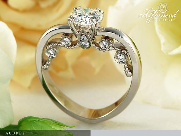 Audrey - eljegyzési gyűrű