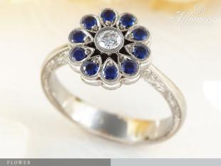 Flower - eljegyzési gyűrű