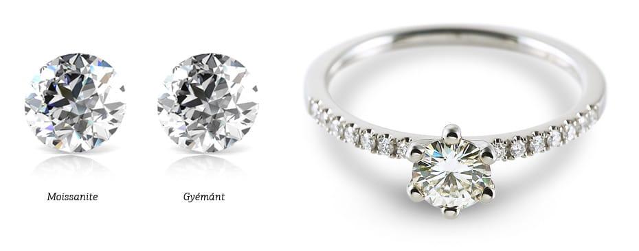 Moissanite gyűrű