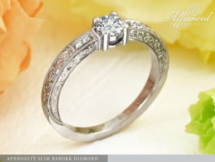 Aphrodité Slim Barokk Diamond – eljegyzési gyűrű
