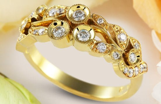 Jázmin no3 - női arany gyűrű