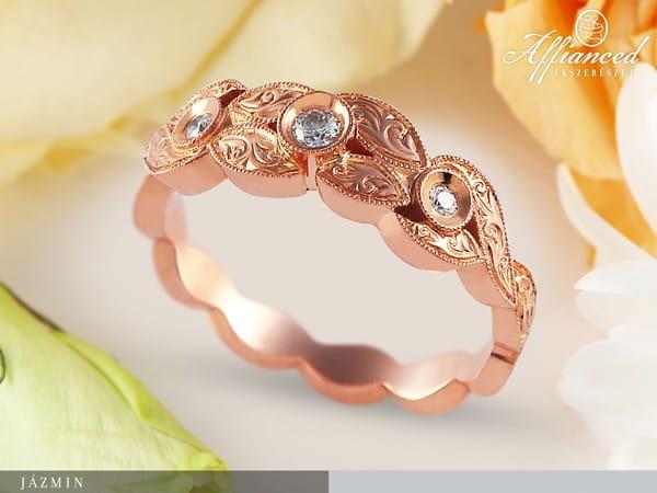Jázmin - női arany gyűrű
