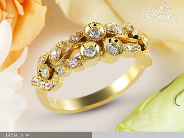 Jázmin no3 - női gyűrű