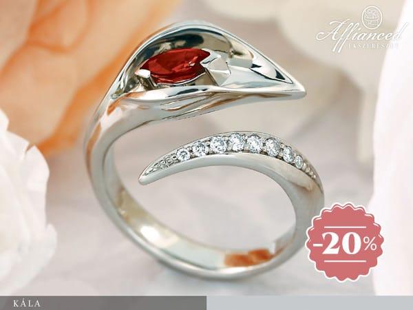 Kála - női arany gyűrű