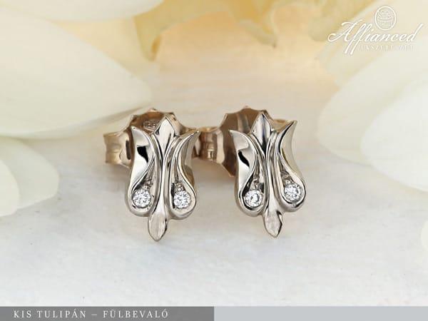 Kis Tulipán - arany fülbevaló