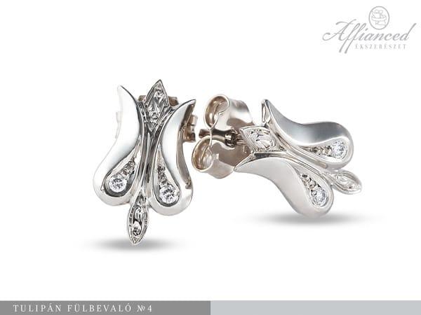 Tulipán no4 - arany fülbevaló