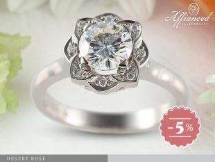 Desert Rose - eljegyzési vagy női gyűrű