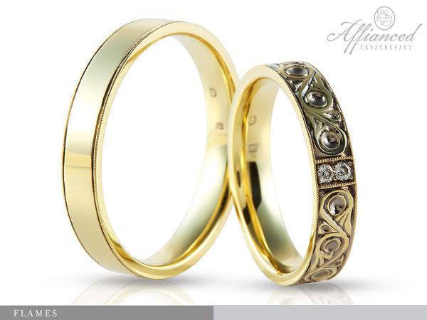Flames - karikagyűrű pár