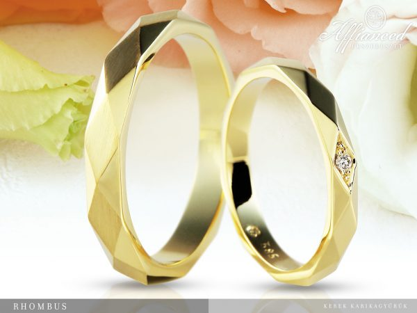 Rhombus - karikagyűrű pár