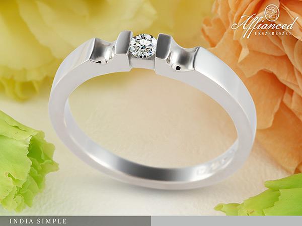 India Simple - női gyűrű, eljegyzési gyűrű