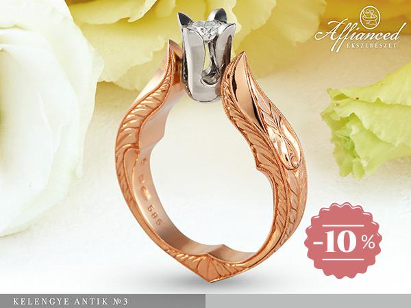 Kelengye Antik no3 - női gyűrű, eljegyzési gyűrű