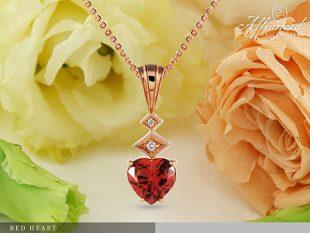 Red Heart – arany medál lánccal