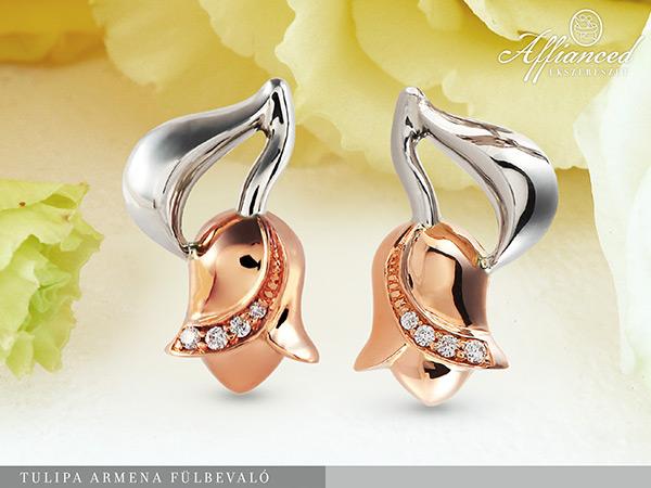 Tulipa Armena – arany fülbevaló