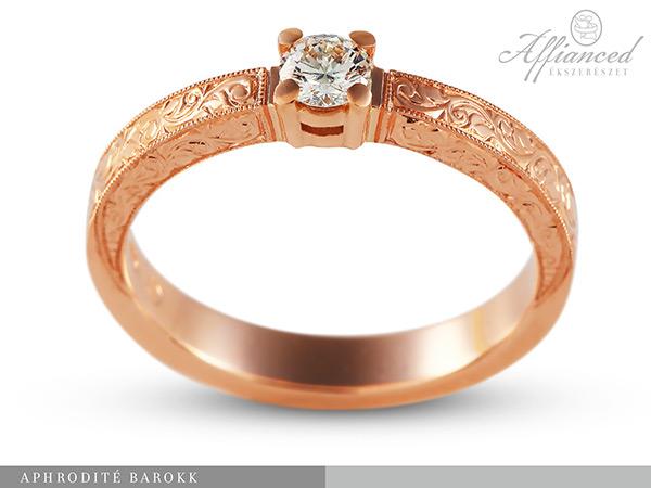 Aphrodité Barokk - eljegyzési gyűrű