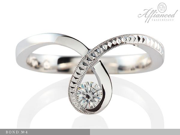 Bond no4 - női gyűrű, eljegyzési gyűrű