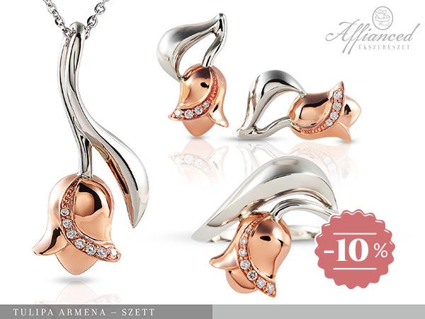 Tulipa Armena – arany ékszerszett