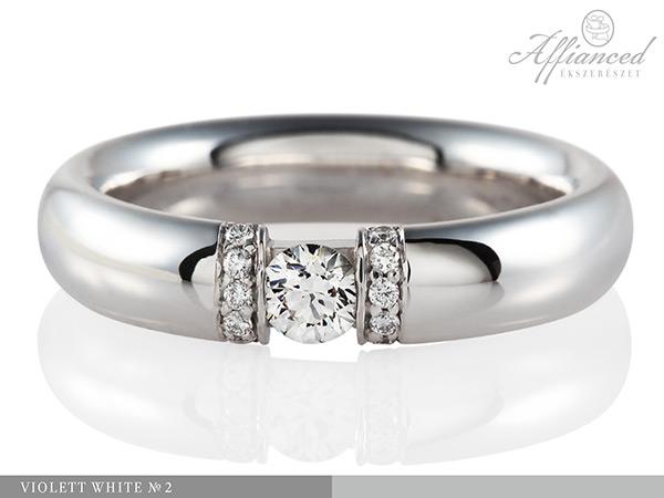 Violett White no2 - eljegyzési gyűrű