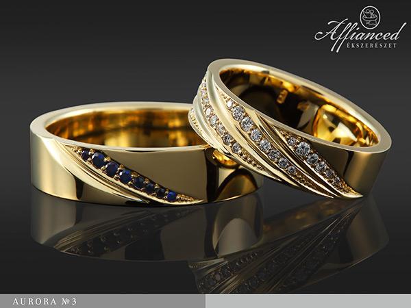 Auróra no3 - karikagyűrű pár