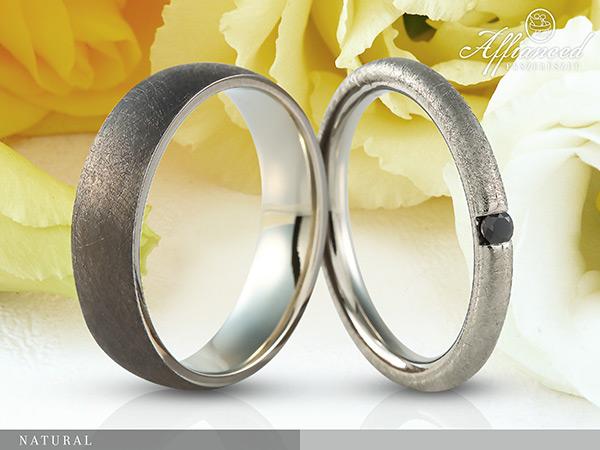 Natural - karikagyűrű pár