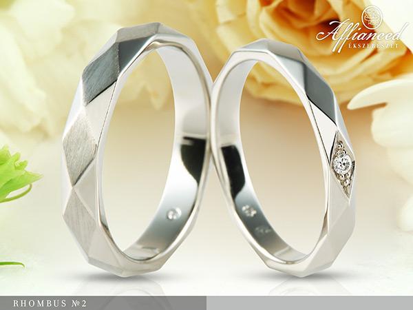Rhombus no2 - karikagyűrű pár