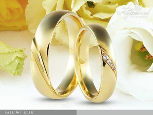Sail no6 Slim - karikagyűrű pár