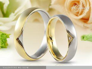 Valentine no2 Slim - karikagyűrű pár
