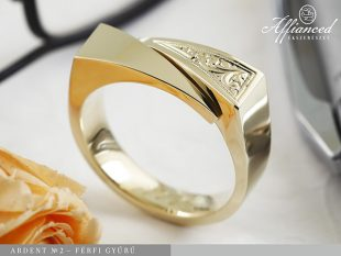 Ardent no2 - férfi arany gyűrű