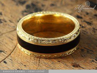 Barocco Enamel - férfi gyűrű