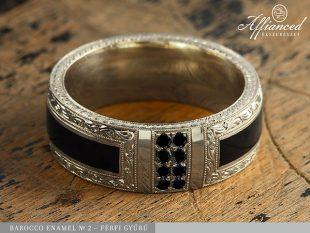 Barocco Enamel no2 - férfi gyűrű