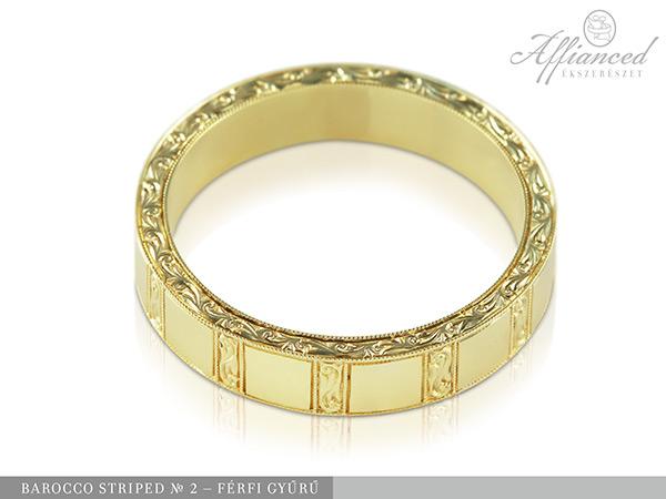 Barocco Striped no2 - férfi gyűrű