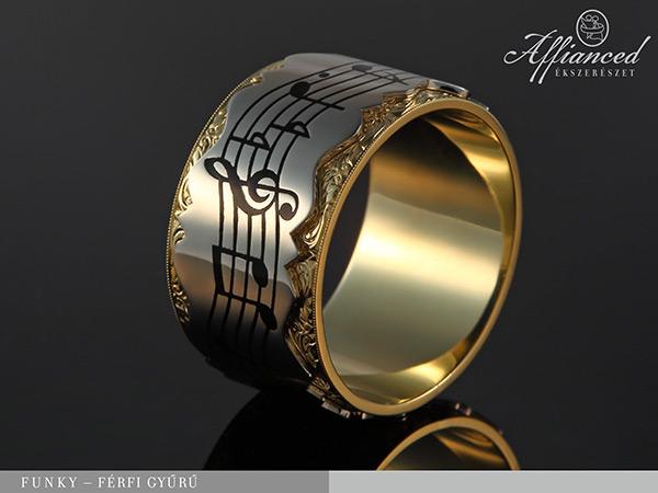 Funky - férfi arany gyűrű