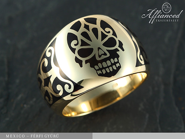 Mexico - férfi arany gyűrű