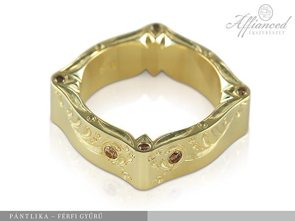 Pántlika - férfi gyűrű