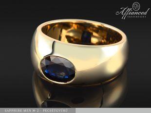 Sapphire Men no2 - pecsétgyűrű