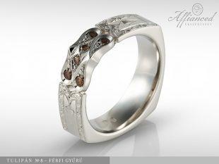 Tulipán no8 - férfi gyűrű