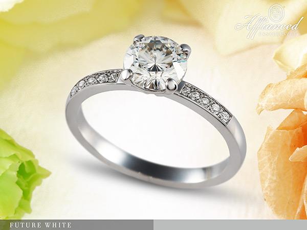 Future White - eljegyzési gyűrű