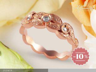 Jázmin - arany női gyűrű gyémánttal