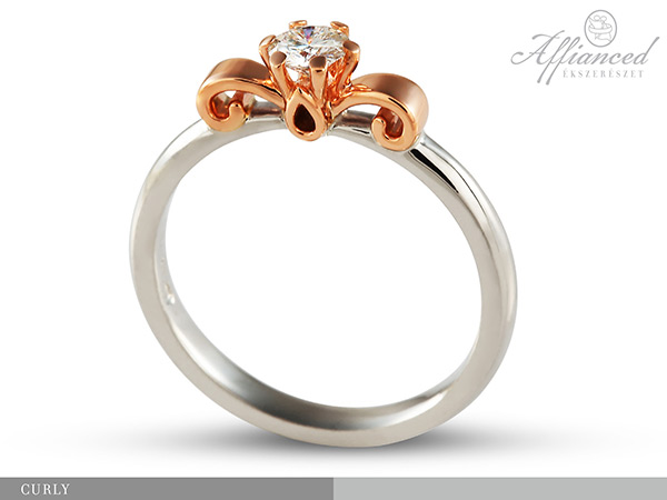 Curly - eljegyzési gyémánt gyűrű