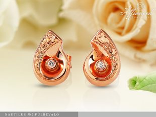 Nautilus no2 - arany fülbevaló