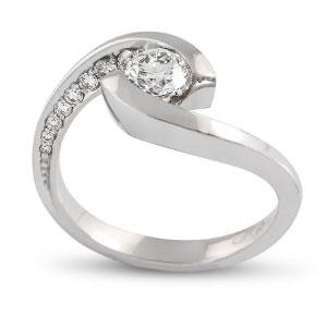 Természetes eljegyzési gyűrű