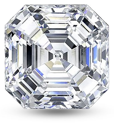 Asscher csiszolású gyémánt