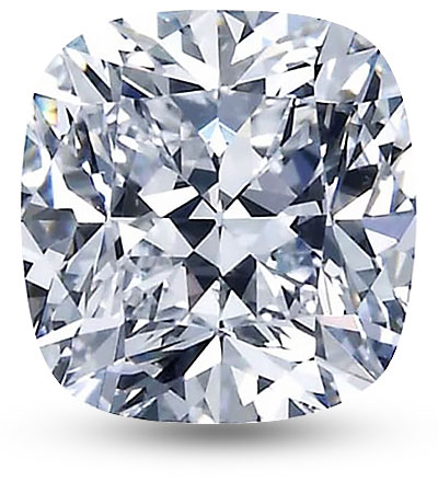 Cushion csiszolású gyémánt