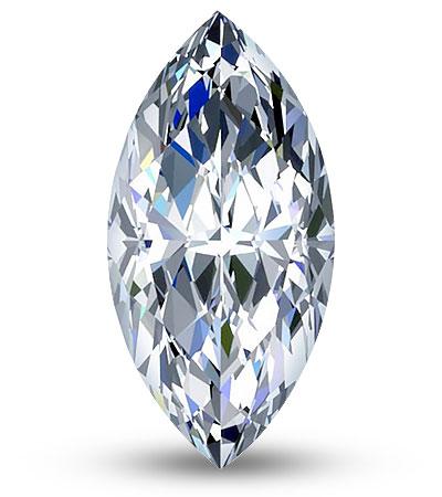 Navette csiszolású gyémánt
