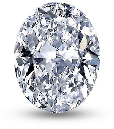 Ovális csiszolású gyémánt