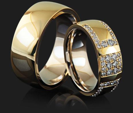 Affianced arany karikagyűrű