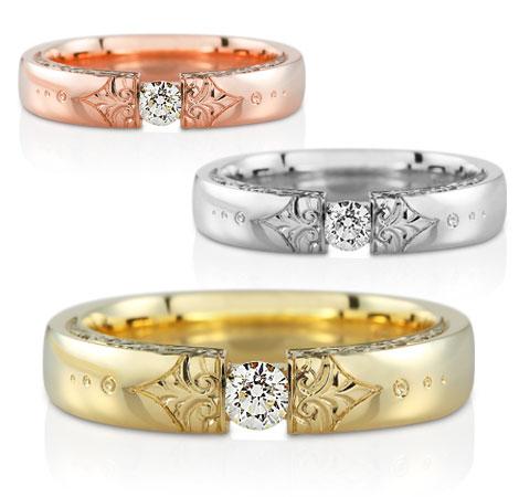 Sárga arany eljegyzési gyűrű