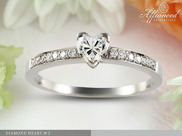 Diamond Heart no2 - eljegyzési gyűrű