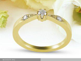 Modesty no2 - eljegyzési gyűrű